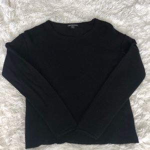 James Perse Black Cashmere Sweater